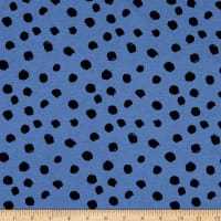 Fabtrends Cotton Jersey Knit Dotted Paint Strokes Peri