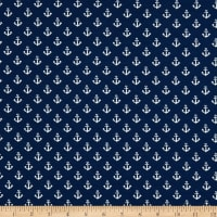 Fabtrends Cotton Jersey Knit Bias Ankers Navy