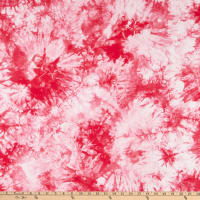 Fabtrends Cotton Jersey Knit Tie Dye Red