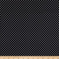 Fabtrends DTY Stretch Knit  Mini Dots Black/White