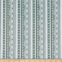 Michael Miller Minky Tiny Tots Hearts and Stripes Grey