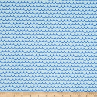 EZ Fabric Minky Save the Ocean Ocean Blue Ocean