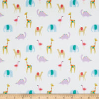 EZ Fabric Minky Sunny Daze Summer Friends Cream