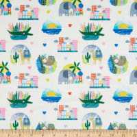EZ Fabric Minky Rule the City Animal City Multi