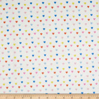 EZ Fabric Minky Rule the City Raining Hearts Multi