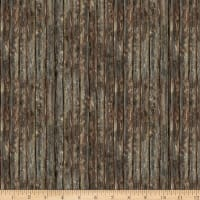 Timeless Treasures Lakeside Cabin Dark Wood Siding Brown