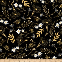 Timeless Treasures Save The Bees Bee Large Floral Black