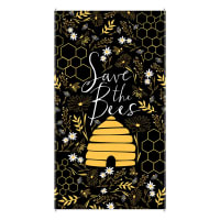 "Timeless Treasures Save The Bees Hive 24"" Panel Black"