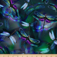 "Hoffman Digital 108"" Wide Back Dragonflies Dragonfly"