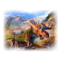 "Hoffman Digital Call Of The Wild 33"" Moose Panel Umber"