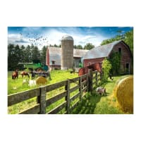 "Hoffman Digital Sun Up To Sun Down Farm Scene 30.5"" Panel Grass"