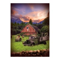 "Hoffman Digital Sun Up To Sun Down Truck & Barn 32"" Panel Dawn"