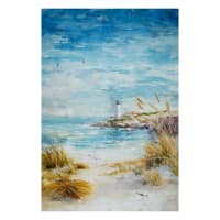 "Hoffman Digital Shoreline Stories Lighthouse Coastal 30"" Panel Seaside"
