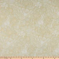 Hoffman Metallic Graceful Garden Packed Floral Papyrus Gold
