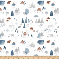 Dear Stella Flannel Brave Enough To Dream Dreamscape Forest White