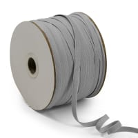 "1/4"" Elastic Band - 100 Yard Spool Grey"