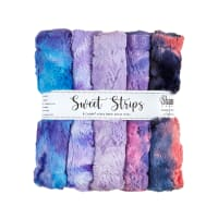 "Shannon Minky Cuddle 10"" Strips 5 Pack Fantasy"