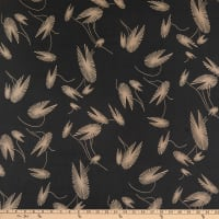 Silk Georgette Water Lily Black Sand