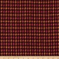 Fabric Merchants Wool Blend Woven Check Magenta/Mustard