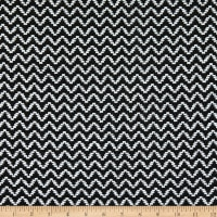 Fabric Merchants Wool Blend Woven Zig-Zag Black/White
