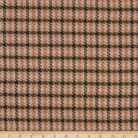 Telio Maxime Yarn Dyed Stretch Woven Suiting Plaid Camel/Pink