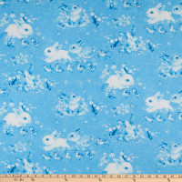 Bunny Meadows Digital Bunny Toile De Jouy Blue