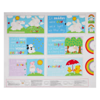 "Huggable And Loveable IX Rainbow Hugs Book 36"" Panel Multi"