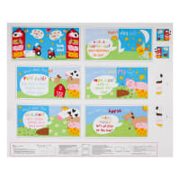 "Huggable And Loveable IX Farm Book 36"" Panel Multi"