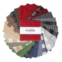 "Riley Blake All About Plaids 5"" Stacker 42 Pcs"