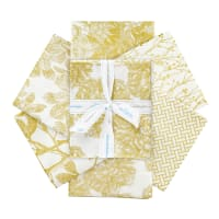 Riley Blake Castkata Classic Fat Quarter Bundle Gold 6 Pcs