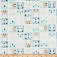 Camelot Playful Animal Block Flannel Multi