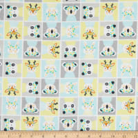 Camelot Playful Animal Block Flannel Yellow