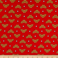 Wonder Woman 1984 Collection WW84 Logo and Stars Flannel Red