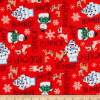 Rudolph Character Names Flannel Red
