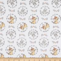 Bambi and Thumper Flannel Wreath White