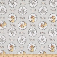 Bambi and Thumper Flannel Wreath Grey