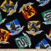 Harry Potter Quidditch Houses Fleece Black