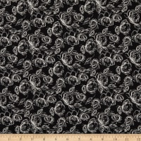 Laura Ashley Oxford Etched Floral Black