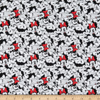 Disney Minnie Mouse Dreaming in Dots Minnie Tossed Stack White