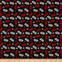Star Wars Tossed Icons Black Red
