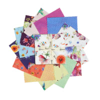 "Clothworks Flower Talk 5"" Squares 42pcs"