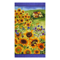 "Clothworks Sunny Fields 24"" Panel Multi Color"