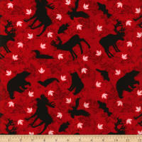 Canada Flannel Animals Black/Red