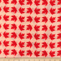 Canada Flannel Leaves Two Red/Natural