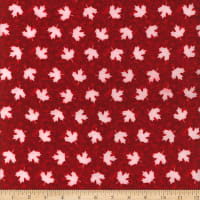 Canada Flannel Leaves White/Red