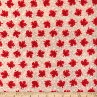 Canada Flannel Leaves Red/White