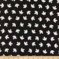 Canada Flannel Leaves White/Black