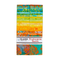 "Island Batik Tropicana Twist 2.5"" Strip Pack 40pcs"