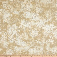 """108"""" Wide Back 100% Cotton Abstract Foliage Tan"""