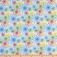 "Maywood Studio 108"" Beautiful Backing Star Flower White/Primary"